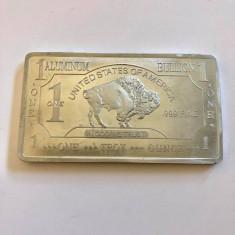 LINGOU 999 FINE  ALUMINIUM BULLION  USA 31.40 GR, America de Nord