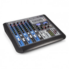 Power Dynamics PDM-S804, mixer muzical, 8 canale, DSP/MP3, port USB, receptor bluetooth