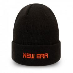 Caciula New Era Essential Wordmark Cuff Knit Negru - Cod 97353654410