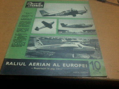 Sport si tehnica anul XV nr 10 1969 raliul aerian al Europei foto