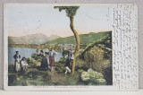 SORENTO - PANORAMA , CARTE POSTALA ILUSTRATA , EXPEDIATA DE FLORICA URECHIA CATRE A.D. XENOPOL * , CIRCULATA , CLASICA , DATATA 1903
