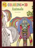 "Cumpara ieftin ""COLORING in 3D - ANIMALS. Includes 3D glasses"", Hannah Davies. Carte noua, Alta editura, 2016"