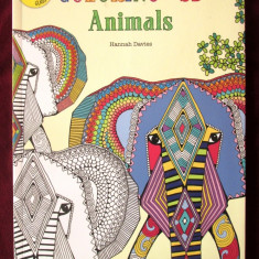 """COLORING in 3D - ANIMALS. Includes 3D glasses"", Hannah Davies. Carte noua, Alta editura, 2016"