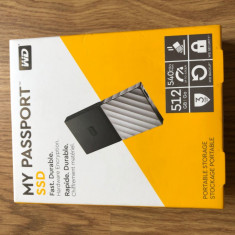 SSD portabil WD My Passport 512gb NOU SIGILAT, 500-999 GB, Western Digital