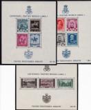 ROMANIA1939/40 LP 133 CENTENARUL CAROL I PENTRU INZESTAREA  ARMATEI  COLITE MNH, Nestampilat