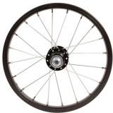 Roată spate bicicletă copii 14 inch frână tambur/v-brake Negru, Btwin