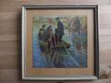 "Reproducere foto Carl Wilhelmson (1866-1928)-""Church-Goers in a Boat"""