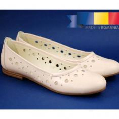 Balerini dama casual de vara din piele naturala - CLARA BEJ, 35 - 40, Alb, Albastru, Bleumarin, Galben, Gri, Maro, Negru, Rosu, Roz, Verde