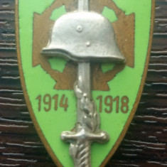 INSIGNA MILITARA AUSTROUNGARIA DIN PRIMUL RAZBOI MONDIAL 1914-1918, MAI RARA