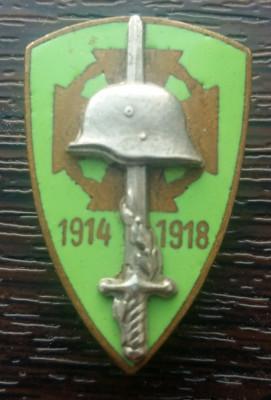 INSIGNA MILITARA AUSTROUNGARIA DIN PRIMUL RAZBOI MONDIAL 1914-1918, MAI RARA foto