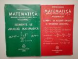 Matematică - Manual a XI-a - 2 vol - algebra, analiza, geometrie - Mircea Ganga