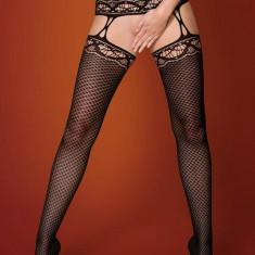 Ciorapi Sexy Cu Portjartier, Negru, S/M/L