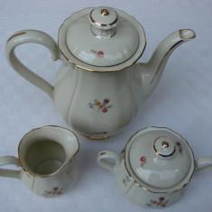 Set de ceainic, zaharnita si letiera din portelan suedez HACKEFORS, Decorative