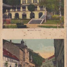 Baile Herculane Salonul de cura, Hotel Dacia CP necirculata 1938