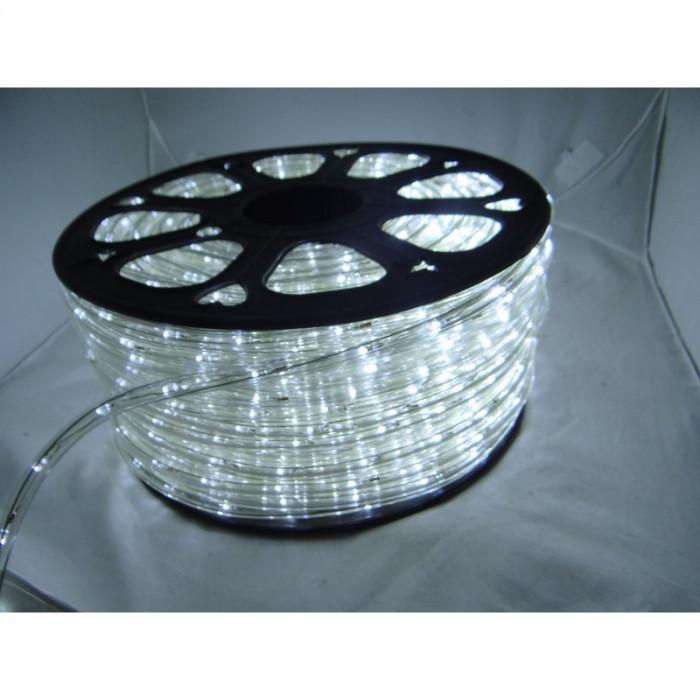 Instalatie Rola led 50m ALB RECE furtun luminos + alimentator inclus / instalatie de craciun