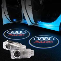 Lumina portiera cu emblema AUDI
