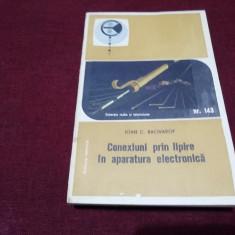 IOAN C BACIVAROF - CONEXIUNI PRIN LIPIRE IN APARATURA ELECTRONICA