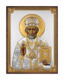 Icoana Argint Sfantul Nicolae 13*18cm Cod Produs 2701