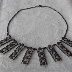 COLIER argint TRIBAL vintage VECHI de efect RETRO patina MINUNATA rar SPLENDID
