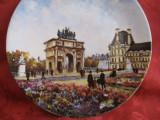 FARFURIE PORTELAN LIMOGES LE JARDIN DES TUILERIES L'ARC DE TRIOMPHE LOUIS DALI