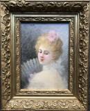 Cumpara ieftin Portret de femeie cu evantai - Jeanne Samson Fichel