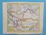 Harta a Ungariei si a Imperiului Otoman, tiparitura originala din anul 1783
