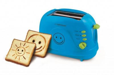 Prajitor de paine Esperanza EKT003B EKT003 Smiley 3 = 1 750W Blue foto
