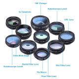 Cumpara ieftin Set 10in1 lentile & filtre profesionale pentru smartphone si tablete SuperMacro...
