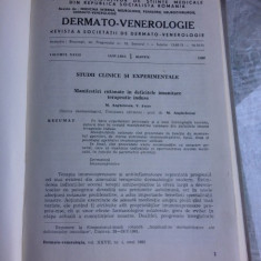 DERMATO-VENEROLOGIE REVISTA, VOLUMUL XXVII/1982