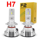 Set bec LED  H7 cu chip LED F2 , Canbus , 30W - 4800 lumeni , 6000k