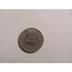 CY - 6 pence 1880 Marea Britanie / frumoasa