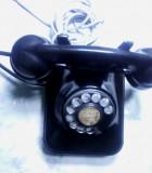 Telefon vechi  bachelita cu disc Grigore Preoteasa Romanesc 1960