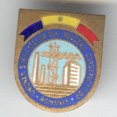 Insigna Uniunea Sindicatelor din Industria Constructiilor
