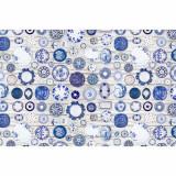 Covor 80x200 cm, albastru crem, PARLIN