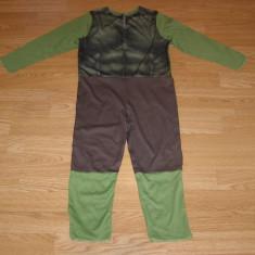 costum carnaval serbare hulk pentru copii de 5-6 ani