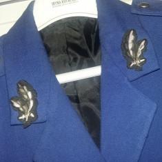 Veston vechi militar JANDARMERIE,Veston cu nasturi/petlite si emblema,T.GRATUIT
