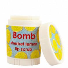 Balsam de buze exfoliant Sherbet Lemon Bomb Cosmetics, 4.5 g