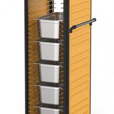 Carucior RAKI transport tavi gastronorm 1/1 34 nivele cu pereti laterali