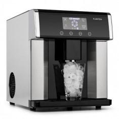Klarstein Eiszeit, mașină pentru cuburi de gheață, oțel inoxidabil, 3 dimensiuni de cuburi de gheață, argintiu