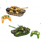 Cumpara ieftin Set 2 Tancuri de jucarie cu telecomanda, 360 grade, 1:14, verde si bej camuflaj