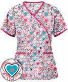 "Bluza medicala ""Hearts on Parade"" (H668WPH)"