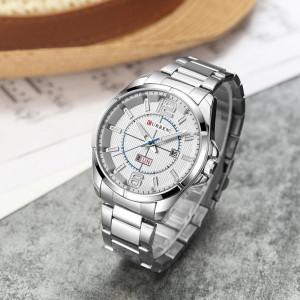 Ceas de mana barbati elegant, argintiu, Curren - M8271ASILVER