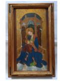Cumpara ieftin Pictura/ Icoana veche pictata pe lemn, Precesta cu Pruncul Isus