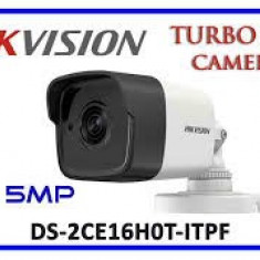 Camera supraveghere exterior Hikvision TurboHD DS-2CE16H0T-ITPF, 5 MP, IR 20 m, 2.8 mm