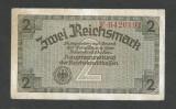 GERMANIA  NAZISTA  2 MARCI  REICHSMARK  1940 [26]  P- 137a , 7 cifre  , Litera F