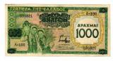 Grecia 1939 - 1000 drachma, supratipar, circulata