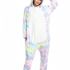 PJM61-59 Pijama intreaga kigurumi, model unicorn cu stelute