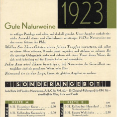Reclama la vinuri germana interbelica