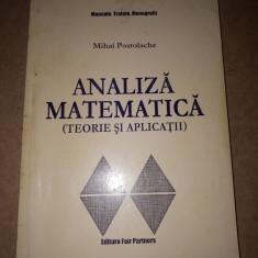 ANALIZA MATEMATICA × Mihai Postolache