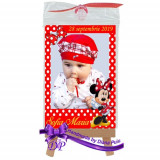 Marturii botez magneti Handmade by Diana Puiu Minnie Mouse MDFM 7